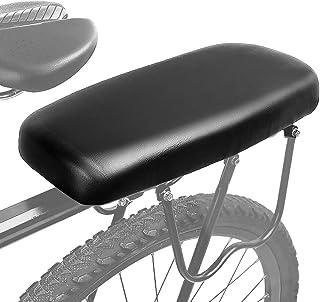 Montloxs Achterbank voor fiets, mountainbike, mountainbike, leer, comfortabel kussen voor fiets, achterbank voor bagagedra...