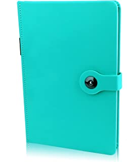 100 Sheets/ 200 Pages Classic Hardcover Business A5 Meeting Planner Diary Journal Notebooks and Journals with Pen Loop, Pocket, Calendar (8.3x5.1 In)