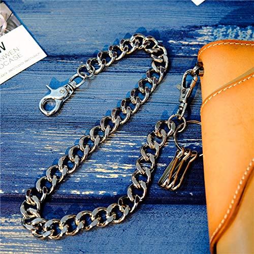 SWAOOS Cadena De Cintura Punk Pantalones Masculinos Cadena Hombres Mujer Jeans Llavero Cinturón Envuelto En Plata Rock Punk Hiphop Wallet Cinturón Cadena