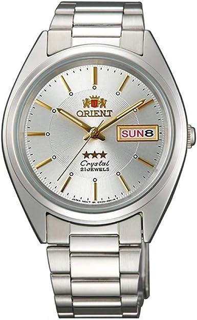 Orient Reloj Analógico para Unisex Adultos de Automático con Correa en Acero Inoxidable FAB00006W9