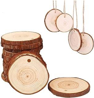 Small Natural Wood Slices 30 Pcs 2.4