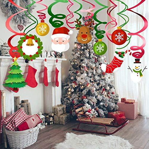 Sayala 30Pezzi Decorazioni Natalizie appese,Decorazioni per soffitti Albero di Natale per Decorazione della Festa di Natale di Neve Invernale (Santa)