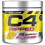 C4 Ripped Pre Workout Powder Raspberry Lemonade | Creatine Free + Sugar Free Preworkout Energy...