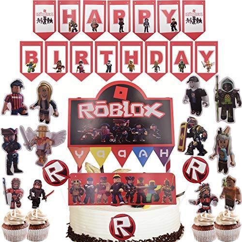 WENTS 36 Stück Gaming BROSS-Kuchen-Toppers Roblox Cupcake Toppers für Kinder Baby Party Geburtstag Party Kuchen Dekoration Supplies
