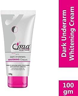 Qraa Advanced Lacto Dark Underarm Whitening Cream, 100g For even toned underarms - Paraben Free
