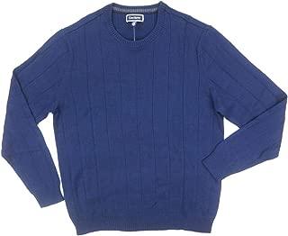 Mens Crewneck Ribbed Trim Pullover Sweater
