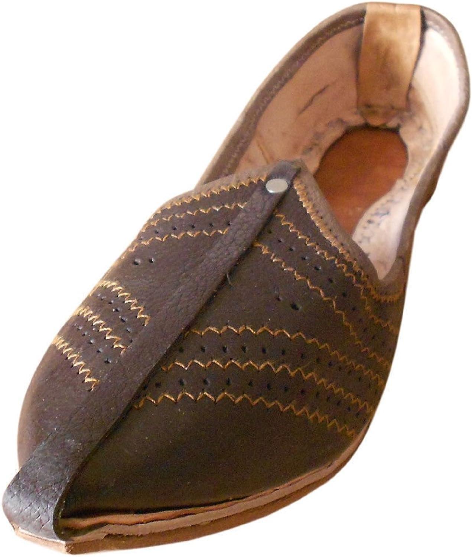 Kalra skapade Mojaries Indiska Män skor handgjorda läder Casual Casual Casual Flip -Flops bspringaaa  känt märke