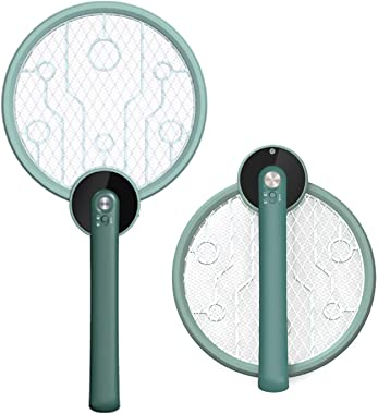 Micnaron Electric Fly Swatter Bug Zapper Mosquito Killer - Zap Racket for Indoors and Outdoors