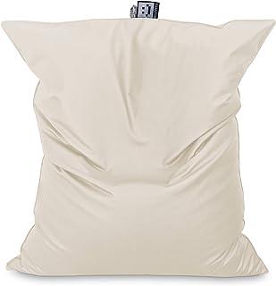 HAPPERS Puff Gigante XXL Polipiel Outdoor Crudo con Relleno para Exterior. Cojin Gigante Muy cómodo y versátil Puede ser sustituto del sofá o también de la Cama