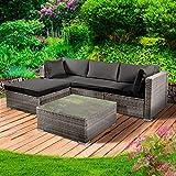 BRAST Poly-Rattan Gartenmöbel Lounge Set 15 Modelle 3 Farben 4-12 Personen Aluminium Sitzgruppe ROYAL Grau