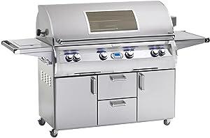 Fire Magic E1060s-4E1P-62-W Echelon Diamond E1060s Propane Gas Grill On Cart Single Side Burner Magic View Window