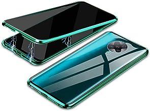 جراب EUDTH Xiaomi Redmi K30 Pro، جراب مضاد للبصر، إطار معدني ممتص مغناطيسي + غطاء من الزجاج المقسى جراب واقي للجسم بالكامل لهاتف Xiaomi Redmi K30 Pro 6.6 بوصات - أخضر