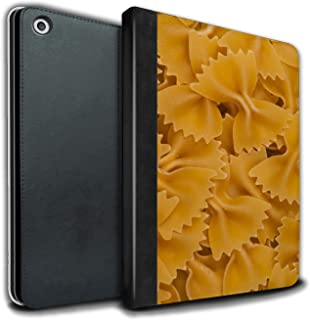 eSwish PU Leather Book/Cover Case for Apple iPad Air 3 2019/3rd Gen Tablets/Farfalle Pasta Design/Food Collection