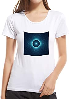Summerout Womens T Shirts Girls Casual Tees Shiny Star Short-Sleeve Round Neck Cotton