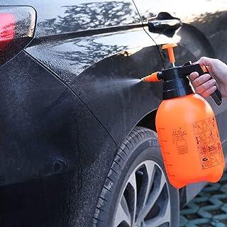 2L Hand-pressure Hand Pump Pressure Sprayer Bottle Pressurized Spray Bottle,Pneumatic Automatic Sprayer Orange Bottle Wate...