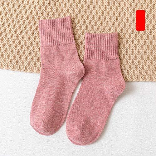 10 Piezas = 5 Pares otoño Invierno cálido Mujeres Calcetines de algodón Coloridos Especiales cómodos de Punto niñas Calcetines Casuales Mujeres-a9