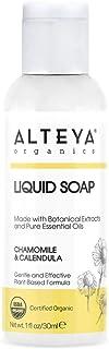 Alteya Bio Flüssigseife Kamille & Ringelblume 30ml Reisegröße - USDA Organic-zertifizierte Reine Natürliche Seife und Waschlotion