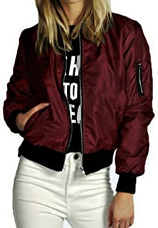 2018 New Women Slim Short Bomber Jacket Coat Soft Zipper Biker Motorcycle