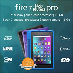 """Introducing Fire 7 Kids Pro tablet, 7"""" display, ages 6+, 16 GB, Black"""