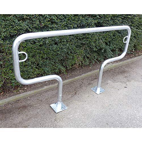 Arceau range-vélos 850 mm hors sol - à cheviller, galvanisé à chaud - en forme de T, longueur 1500 mm - Etrier Support cycles Support pour bicyclettes Support pour cycles Supports cycles Range-vélos Support-cycles Supports-cycles