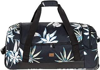 Junior's Distance Across Wheeled Duffle Bag, true black delicate flowers, One Size