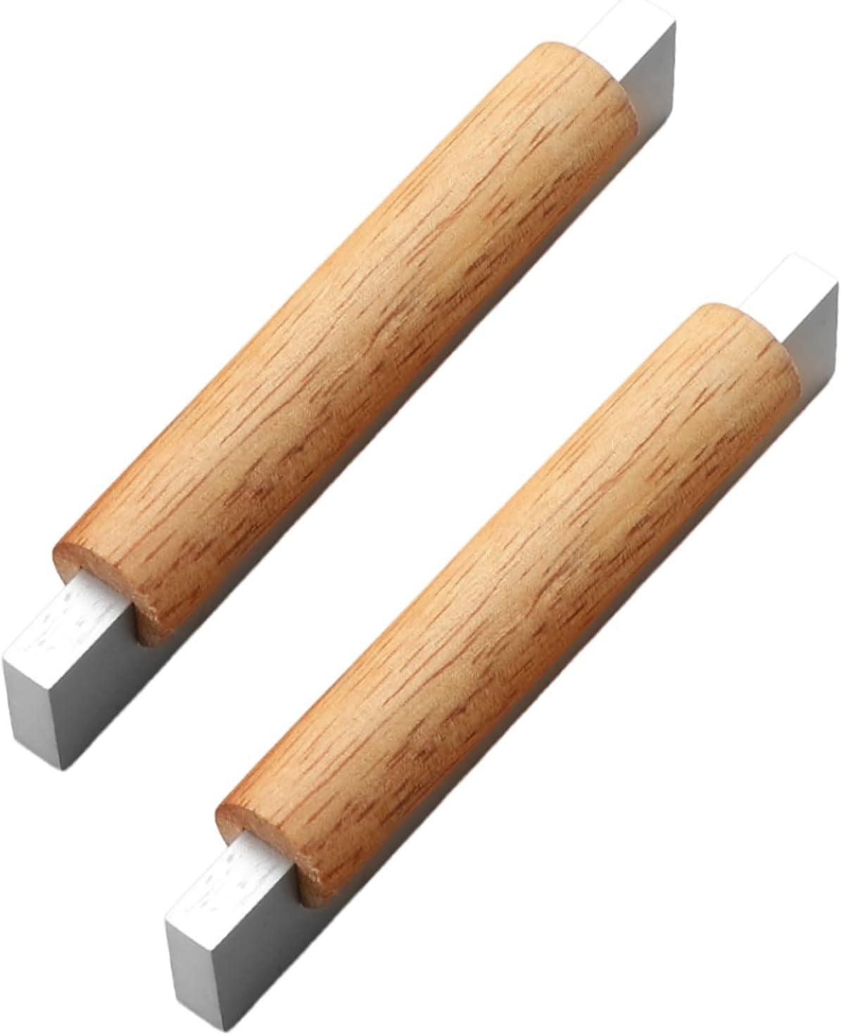 2 piezas Manijas de arco Retro Tiradores de madera maciza base de aleación de zinc maciza Perillas de gabinete Bisagras de cajón Perilla de Armario,guardarropas (Hole distance 160mm,Silver)