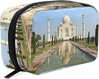 Makeup Bag Cosmetic Pouch Clutch Landscape Taj Mahal India