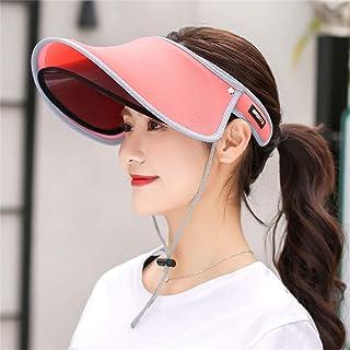 JMcall Sun Visor Cap Double-layer Topless Sun UV Protection Women Adjustable Hat(Color:Pink,Blue,Watermelon,Hot Pink,Green,Purple,Light Pink,Sky Blue & Material:ABS)