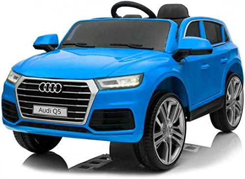 nuevo sádico B87510 Coche Coche Coche eléctrico para Niños de 1 plazas AUDI Q5 con mando y 12V - azul  100% a estrenar con calidad original.