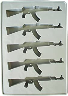 AK-47 Gun Ice Cube Tray - Funny Firearms Dad Military White Elephant Novelty Gag Gift