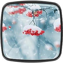 Keukenkast Knoppen - met sneeuw bedekte berg - Knoppen voor dressoir laden voor kast, kast, badkamer of kantoor - Pack van 4
