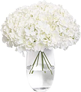 Tifuly Hydrangea Silk Flower White 12 Heads Artificial Flower Head DIY Wedding Centerpieces Bouquets Home O...