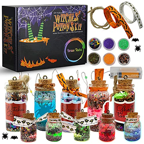 DIY Halloween Witches' Potions Kit for Kids - Make Your Own Witches Potions Arts & Crafts Set - Great Gift for Kits 5 6 7 8 9 10 Years and Up (Halloween)