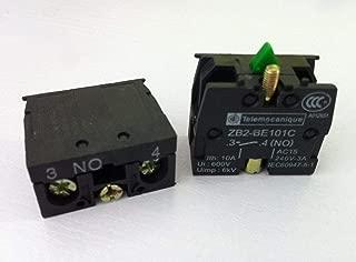 FidgetFidget 10pcs TELEMECANIQUE ZB2-BE101C NO Contact Block Replaces Tele 10A 400V
