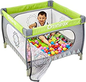 CXHMYC Baby Barrier Foldable With creep mat and 100 balls  Portable baby playpen  Suitable for children s crib high bed rails