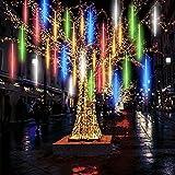 Luces de Navidad de Lluvia , Luces de Ducha de Meteoritos IP65 Impermeables con 50CM 10Tubos 360 LED, Luces Decorativas para Exterior/Interior/Bodas/Navidad/Fiestas