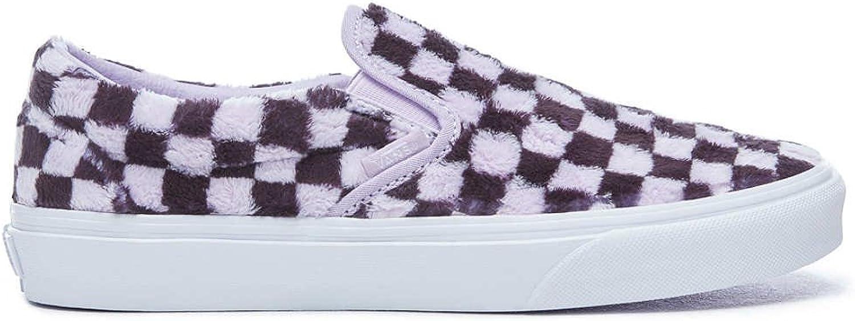 Vans Classic Slip-On (Furry Checkerboard) shoes Unisex Purple