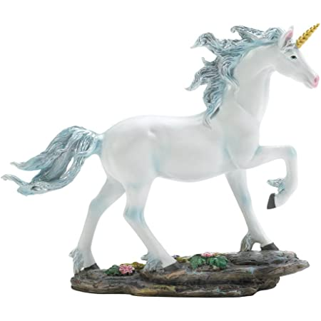 11 x 4.5 x 9-Inch Kathy Ireland Unicorn Figurine Gold A/&B Home