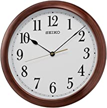 Seiko Wall Clock (41 cm x 41 cm x 5 cm, Brown, QXA598BN)
