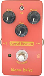Aural Dream Warm Drive Guitar Effect Pedal with Low-gain and 2 modes comfortable warm Overdrive,True Bypass