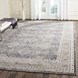 Safavieh Sofia Collection Vintage Light Grey and Beige Distressed Area Rug (9' x 12')