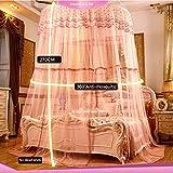 Court Style Moskitonetz Bett Baldachin Für Doppelbett Fliegen Insekt Schutz Innen Dekorative Höhe 270 cm Durchmesser 1 5 M Polyester