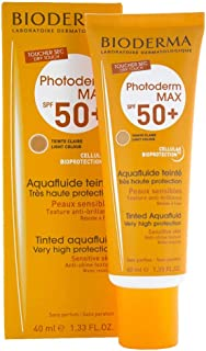 Bioderma Photoderm Max Aquafluide Spf 50+ Claire Light Shade, Light brown, 40 ml