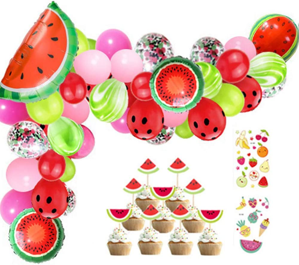 Watermelon Party Decorations Balloon Garland  Arch Kit 105 Ball