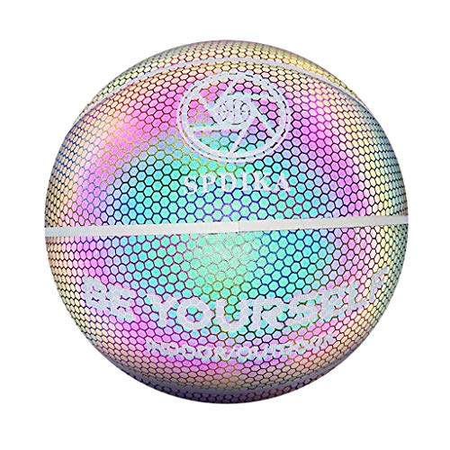Best Prices! BLILI No. 7 Luminous Holographic Glowing Reflective Basketball, Three Unique Reflective...