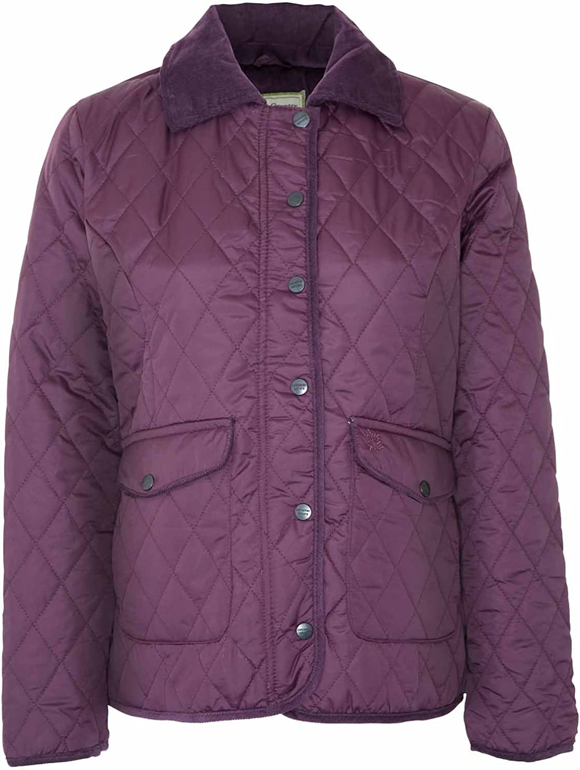 Champion Women's Country Estate Zipped & Studded Quilted Short Winter Coat