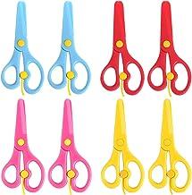 8 Pack Preschool Training Scissors Kids Plastic Playdough Scissors Childrens Toddler Safety Scissors Handmade Art Craft Sc...