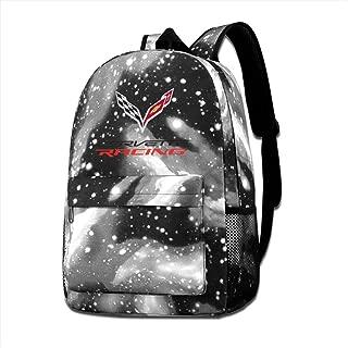 Kids Backpack Corvette Apparel Racing Logo School Hiking Travel Shoulder Bag Children's Bags Starry Sky Daypack For Teen Boys Girls