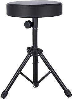 Mike Music Folding Music Guitar Keyboard Drum Stool Rock-Band Piano Chair Seat Sports & Entertainment -Black(drum stool, b...