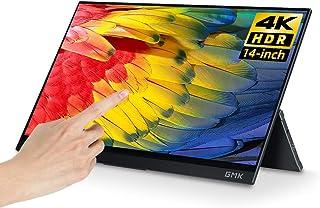 モバイルモニター GMK 14インチ モバイルディスプレイ4K Adobe100%色域 HDR 薄型 IPS パネル軽量 USB Type-C/Mini HDMI/mini DP スタンドカバー PS4/XBOX/Switch/PC/Macなど...